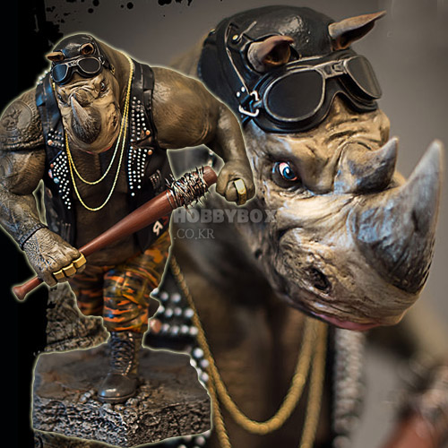 (예약마감) 락스테디(Rocksteady) Statue / 닌자 터틀 : 어둠의 히어로 (Teenage Mutant Ninja Turtles: Out of the Shadows)